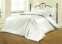 Комплект постельного белья Le Vele Despina White Spring жаккардовое 220-200 см, фото 1