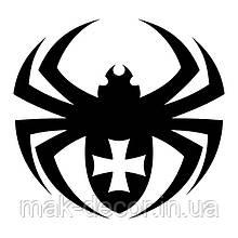 Вінілова наклейка на авто - павук 3