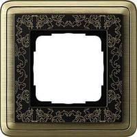 Рамка 1-пост. GIRA ClassiX Art бронза/чёрный