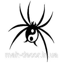 Вінілова наклейка на авто - павук 15х12 см