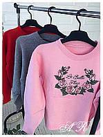 Женский модный свитер с рисунком (3 цвета), фото 1