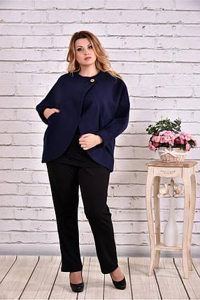 Женское короткое кашемировое пальто большого размера T0640   размер 42-74    цвет синий d5cb8700cbf6b