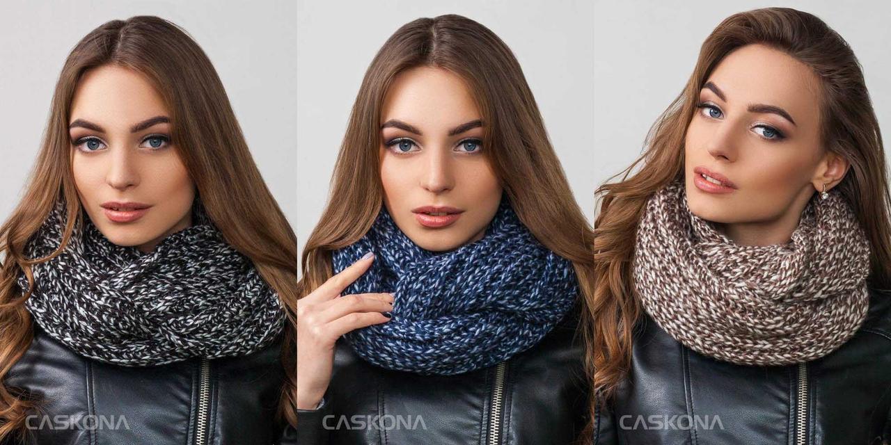Комфортный шарф, снуд CASKONA INFINITY LUNA MELANGE, фото 1