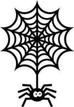 Виниловая наклейка - Паук с паутиной 15х10 см