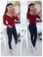 Женская красивая кофта с декольте (4 цвета), фото 1