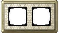 Рамка 2-пост. GIRA ClassiX Art бронза/кремовый