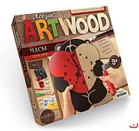 Набор для творчества ARTWOOD Мишка-настенные часы выпилинные лобзиком, Danko Toys, LBZ-01-05