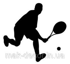 Вінілова наклейка-теніс 2 (від 10х10 см)