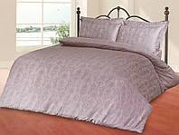 Жаккардовый комплект постельного белья Le Vele spring series Despina lila, фото 1