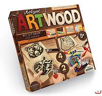 Набор для творчечтва ARTWOOD Звери-подставки под чашки выпилинные лобзиком, Danko Toys, LBZ-01-06
