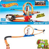 Трек Хот Вилс Петля и повороты Игровой набор Hot Wheels Track Mega Rally Set