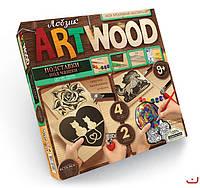 Набор для творчечтва ARTWOOD Домашние животные-подставки под чашки выпилинные лобзиком, Danko Toys, LBZ-01-07