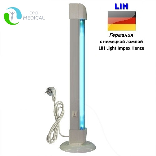 Бактерицидный облучатель небьющийся ECO ОББ 15 М LIH. С немецкой лампой. Переносной