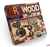 Набор для творчечтва ARTWOOD Бабочка-подставки под чашки выпилинные лобзиком, Danko Toys, LBZ-01-08