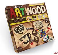 Набор для творчечтва ARTWOOD Сердце-подставки под чашки выпилинные лобзиком, Danko Toys, LBZ-01-10
