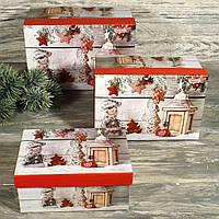 Новогодняя подарочная коробка 7722348-9 (3 шт. в компленте)