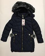 Зимнее пальто для девочек р.10 лет
