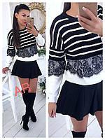 Женский красивый полосатый свитер, фото 1