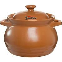 Кастрюля керамическая Sacher коричневая 3.3 л