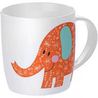 Чашка фарфоровая Слон оранжевый 415 мл