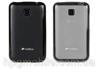 Чехол для LG L3 2 E430, E435  - Melkco Poly Jacket TPU (пленка в комплекте)