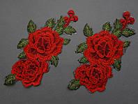 Аппликация термоклеевая 3D цветок 1501