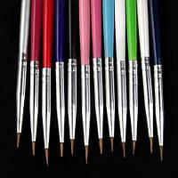 Кисть для росписи ногтей цветная 1 шт