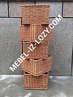 Плетеные лотки для торговых стеллажей 40х40 с высотой 25 см
