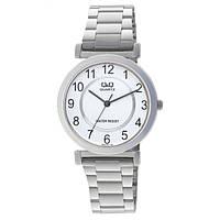 Годинник Q&Q Q548J404Y (Q548J204Y) чоловічі водозахисні 35мм Сріблястий