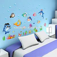 Интерьерная наклейка на стену Подводный мир (SK7070)