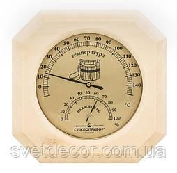 Банная Станция - Термометр и Гигрометр в Баню и Сауну - ТГС 1 сосна