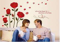 Интерьерная наклейка на стену  Розы (AY6005)