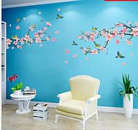 Интерьерная наклейка на стену  Цвет персика  (QC8054)