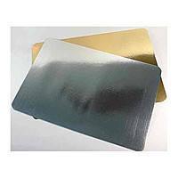 EM0287 Подложка для Торта прямуг. Золото/Серебро 350*450мм (5шт) (Empire Эмпаир Емпаєр)