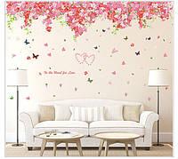Интерьерная наклейка на стену Романтические цветы (SK2005)