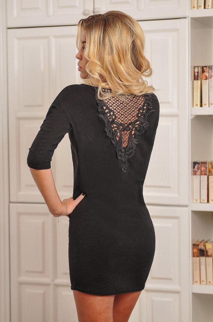 Платье туника ажурная спина(кружево)