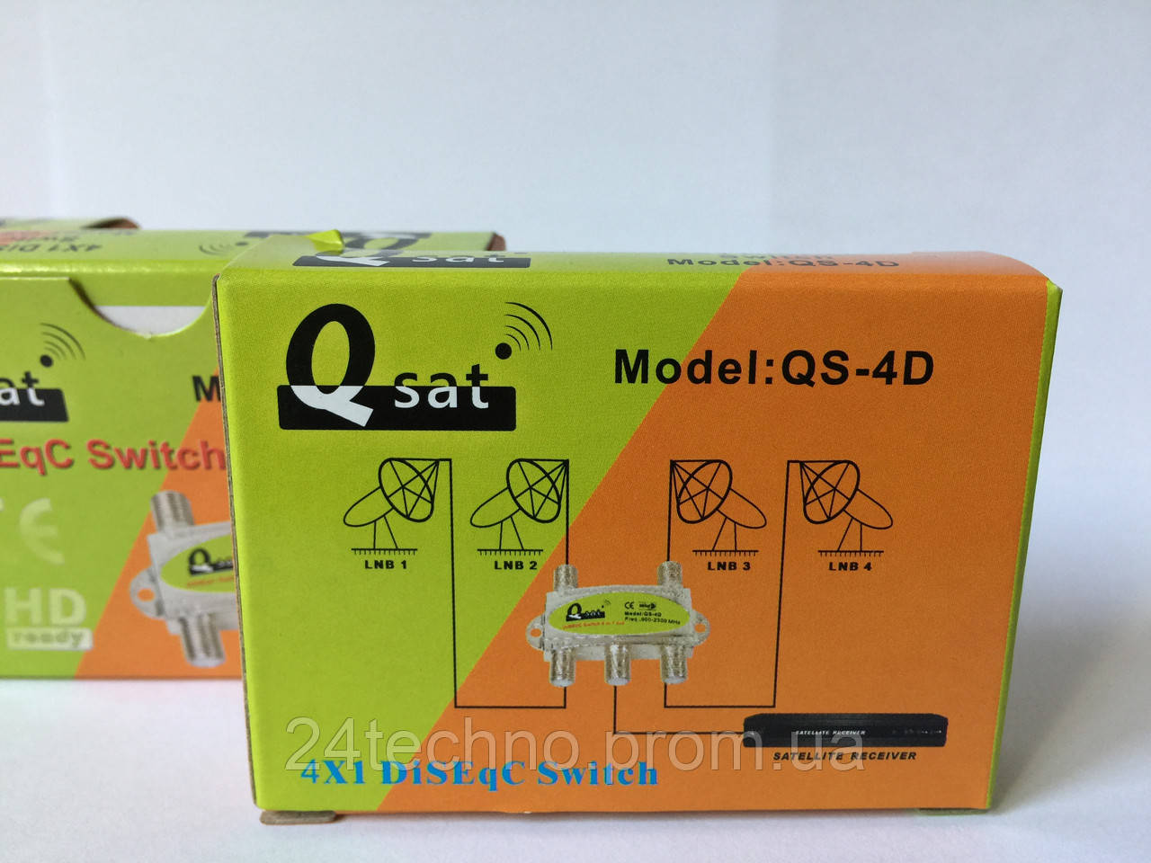 Коммутатор для спутникового ТВ DiSEqC 4x1 Q-Sat QS-4D