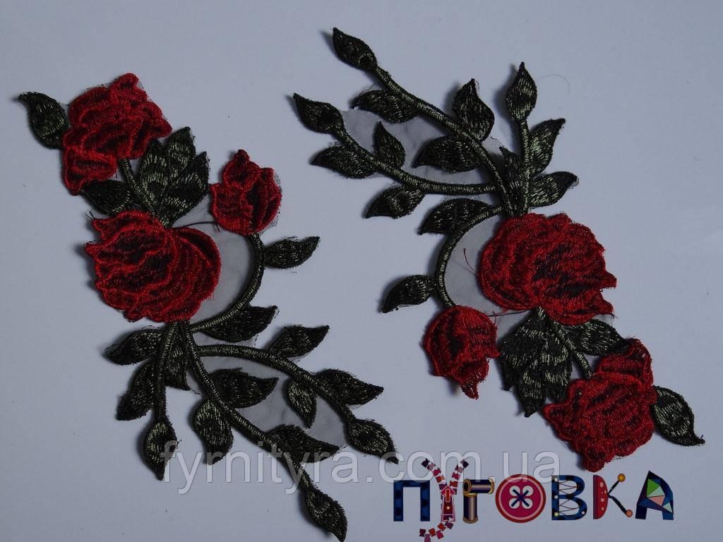 Аппликация термоклеевая 3D цветок 1510
