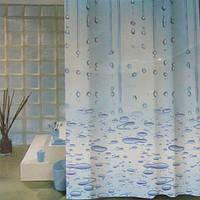 Шторка для душа Vonaldi Water 180x200 см голубая