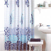 Шторка для душа Vonaldi Mozaic Wave 180x200 см голубая