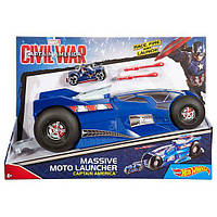 Пускатель для мотоцикла Hot Wheels Massive Moto Launcher Captain America