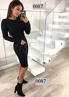 Женское осеннее платье миди 0087 (47)