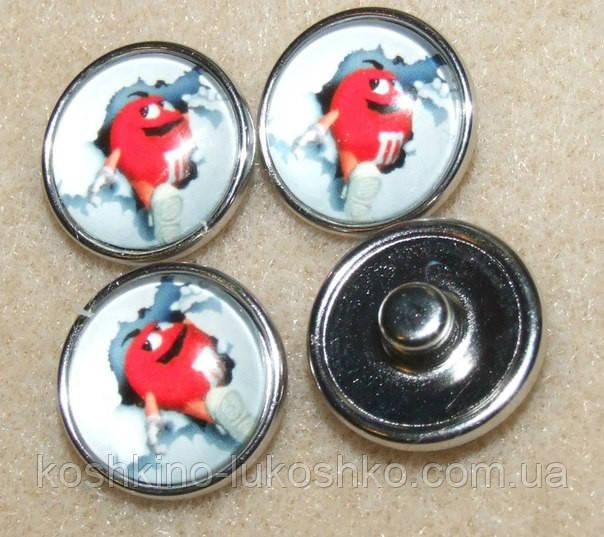 Кнопки НУСА. 18 мм Ммдемс красный