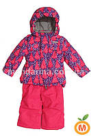 "Зимний термо комплект куртка и полукомбинезон для девочки ""Ёлочки"" ТМ ""Baby Line"""