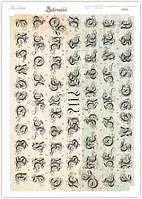 Высечка бумажная для скрапбукинга А4 VV 013 Lesia Zgharda