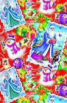 Папір пакувальна Дід Мороз і Снігуронька