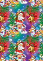 Папір пакувальна Дід Мороз у відблисках
