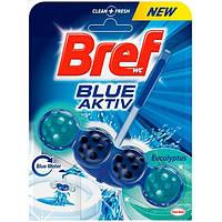 Гигиенический блок для унитаза Bref Blue-Aktiv Cвежесть Эвкалипта 50 г