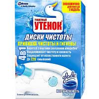 Средство для чистки унитаза Туалетный Утенок Морская Свежесть диски чистоты
