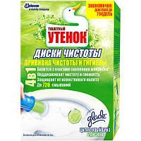 Средство для чистки унитаза Туалетный Утенок Цитрусовый Бриз диски чистоты